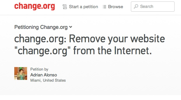 The petition to end all petitions.